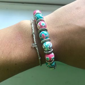 Angela Moore multicolor beaded bracelet